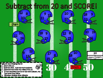 Subtract and SCORE!  Math Game