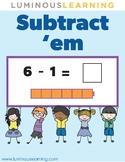 Subtract 'em With Unifix Cubes: Fun Subtraction Game