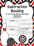 Subtract From 10 -Bowling  (A Ten Frame Subtraction Book a
