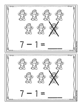 Subtract from 7 with Snow White Subtraction Booklet