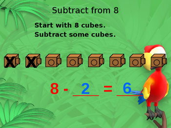 Subtract from 8 Powerpoint