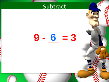 Subtract from 9 Powerpoint
