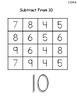 Subtract from Ten Math Game