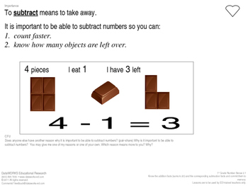 Subtract number facts to ten