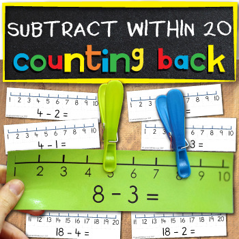 Subtract on a numberline within 10 and 20