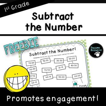 Subtract the Number-Place Value Board Game ***FREEBIE*** (First Grade, 1.NBT.6)