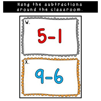 Subtract the Room Subtraction Within 10