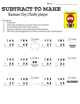 Subtract to Make - Kansas City Chiefs player