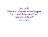 Subtract with Renaming Fractions PowerPoint
