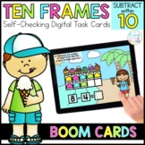 Subtract with Ten Frames Digital Task Cards | Boom Cards™ | Distance Learning