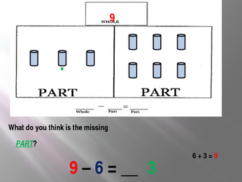 Subtract with Whole Part Part