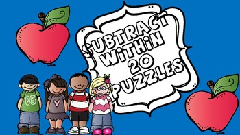 Subtract within 20 Puzzle