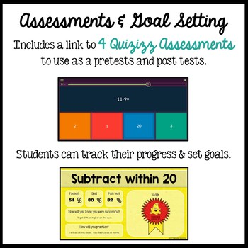 Subtract within 20: Subtraction Facts and Strategies for the Google Classroom