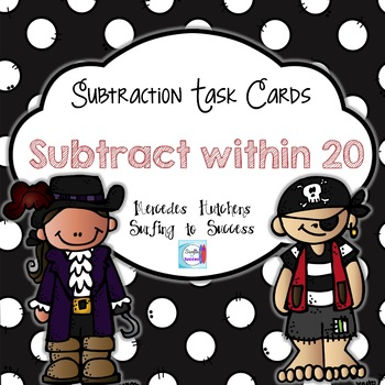 Subtract within 20 Task Cards