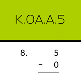 K.OA.A.5: Subtract within 5 (1 sample worksheet)