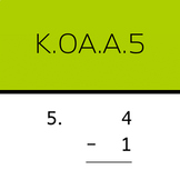 K.OA.A.5: Subtract within 5 (50 worksheets, vertical problems)