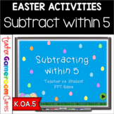 Subtract within 5 Easter Powerpoint Game