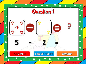 Subtract within 5 - Summer Edition Powerpoint Game