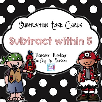 Subtract within 5 Task Cards