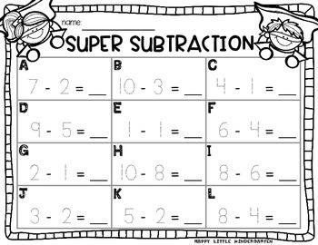 Subtraction Superheros! Subtraction Activities in Tens Frames