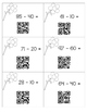 Subtracting 10's QR Codes-Put the Flowers in the Vase