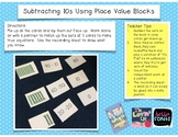 Subtracting 10s Using Place Value Blocks