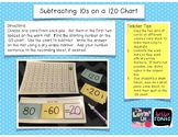 Subtracting 10s Using the 120 Chart