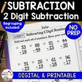 Subtracting 2 Digit Numbers Worksheets