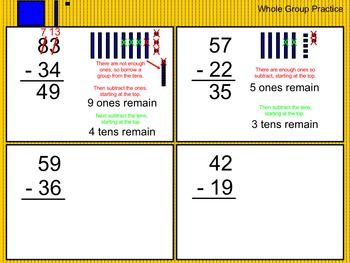 Subtracting 2-Digit Numbers (with and without regrouping)