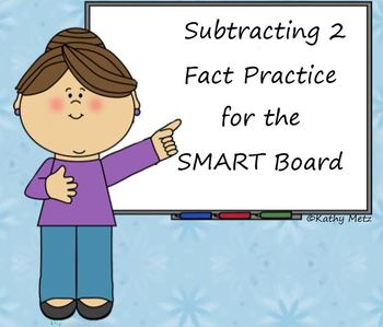 Subtracting 2 Fact Practice for the SMART Board