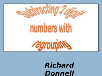 Subtracting 2 digit numbers with regrouping