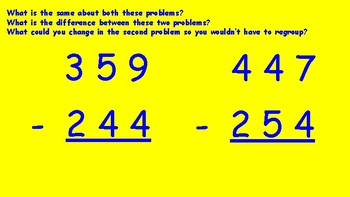 Subtracting 3 Digit Numbers Powerpoint