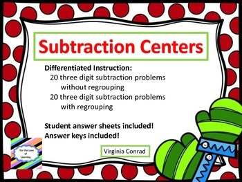 Subtracting 3 Digit Numbers--With and Without Regrouping--
