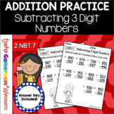 Subtracting 3 Digit Numbers Worksheets