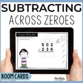 Subtracting 3 Digit Numbers Across Zeroes Boom Cards