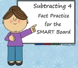 Subtracting 4 Fact Practice for the SMART Board