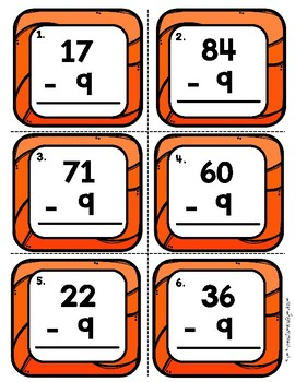 Subtract 9 Using 2 Digit Numbers