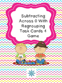 Subtracting Across 0 With  Regrouping Task Cards & Game 2.NBT.5