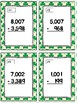 Subtracting Across Multiple 0's Task Cards & Game (March)