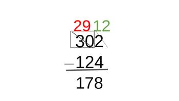 Subtracting Across Zero Bingo