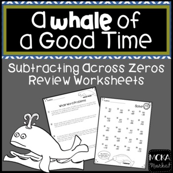 Subtracting Across Zero Review Worksheets