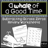 Subtracting Across Zero Review Worksheets