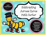 Subtracting Across Zeros Math Center - Common Core Aligned