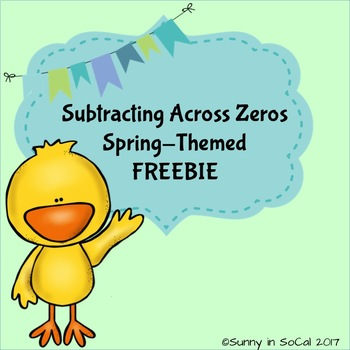 Subtracting Across Zeros Spring-Themed FREEBIE!