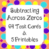 Subtracting Across Zeros Task Cards and Worksheets