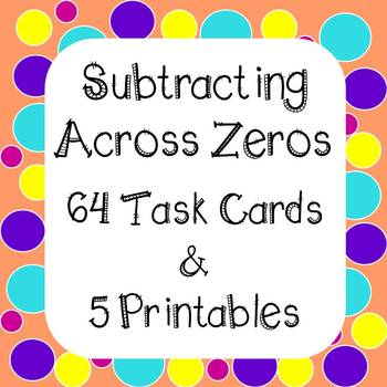 Subtracting Across Zeros Worksheet Teaching Resources  Teachers Pay
