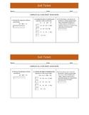 Subtracting Algebraic Expressions Exit Ticket