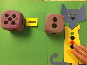 Subtracting Buttons with Pete the Cat--Hands on Activities! #christmasinjuly