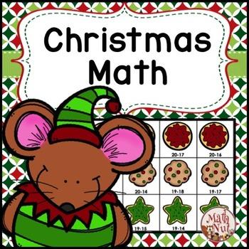 "Christmas Math ""Subtraction Center"""