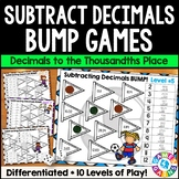 BUMP! Subtracting Decimals Games: Decimal Subtraction {5.NBT.7, 6.NS.3}